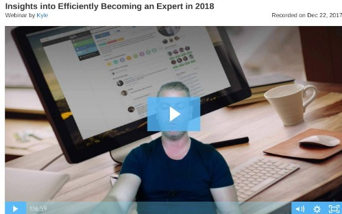 Wealthy Affiliate Live Webinar Insights Into Becoming An Expert In 2018