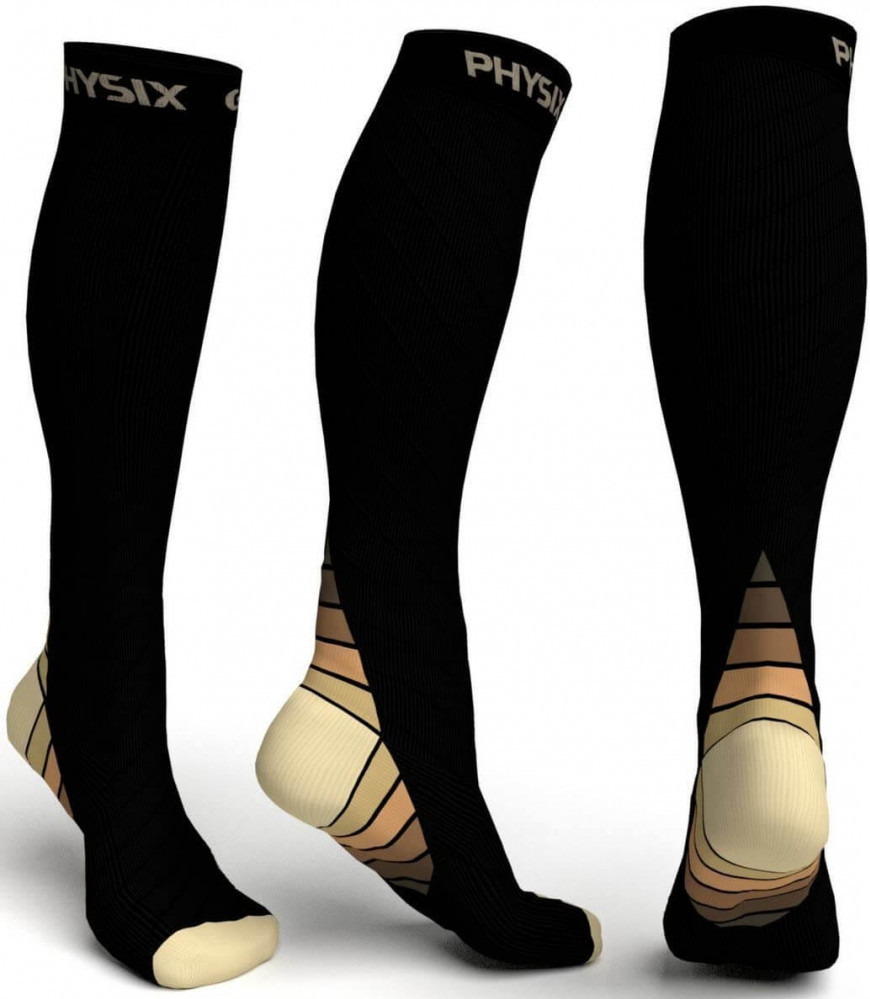 Physix Gear Sports Compression Sock for Men and Women