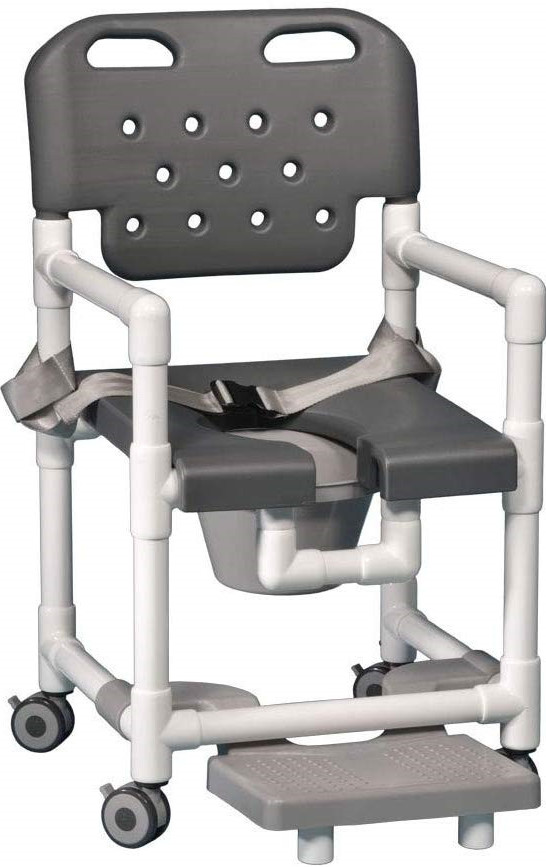 IPU Elite Shower Chair with Footrest and Safety Belts