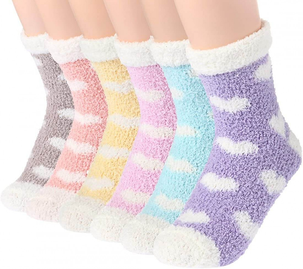 Plush slipper socks