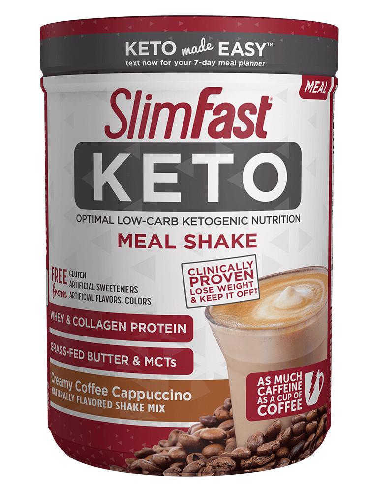 SlimFast Keto Creamy Coffee Cappuccino Shake Mix Review