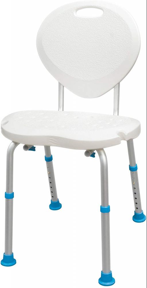 Bath Seat with Backrest with Ergonomic Shape by Aquasense