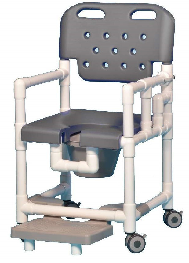 IPU Elite Shower Chair with Footrest and Drop Arm