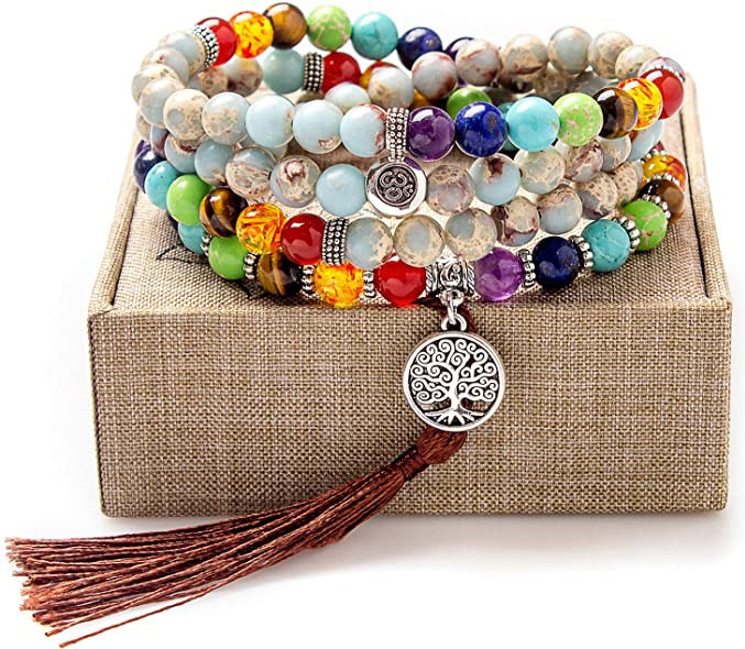 Addmluck Chakra Stones Bracelets