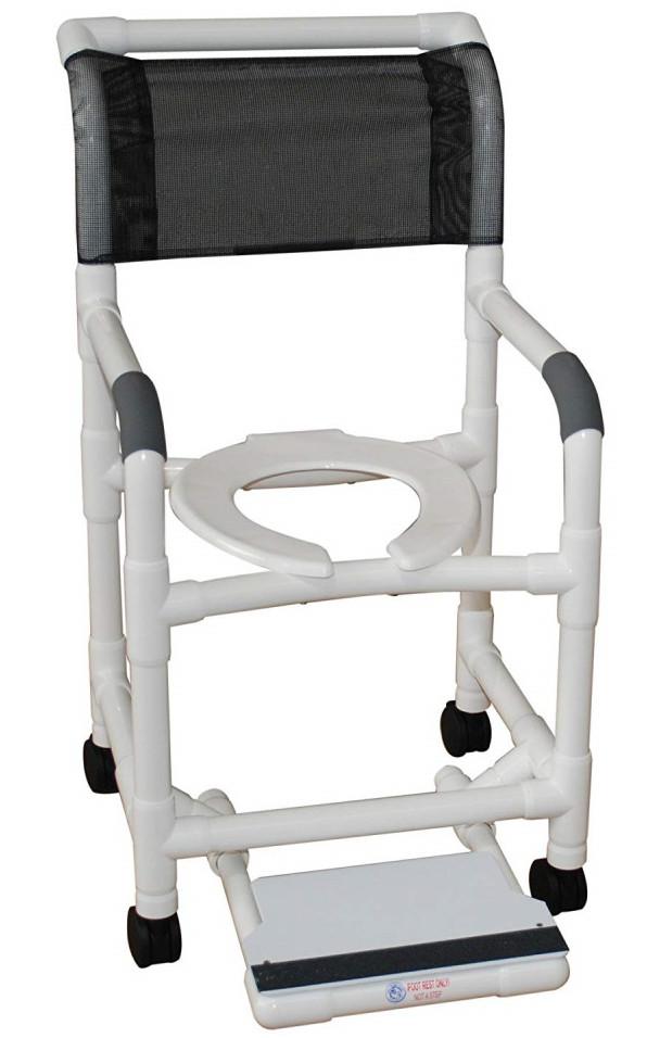 MJM PVC Shower Chair with Sliding Footrest