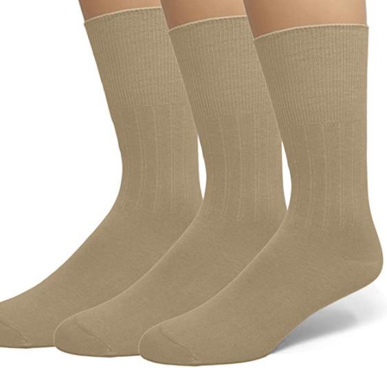 Emem Apparel Diabetic Dress Crew Socks