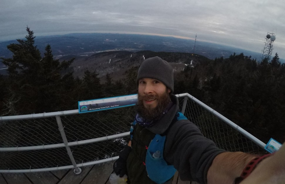Mount Ascutney Observation Tower views as the sun set