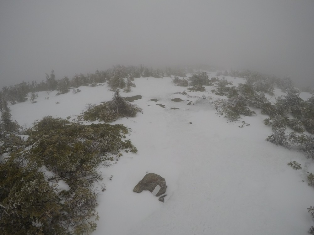 South Kinsman summit in the clouds