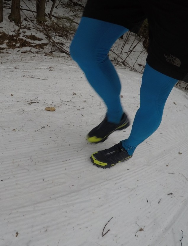Salomon Speed Spike (running shoes with metal spikes for ice and snow)