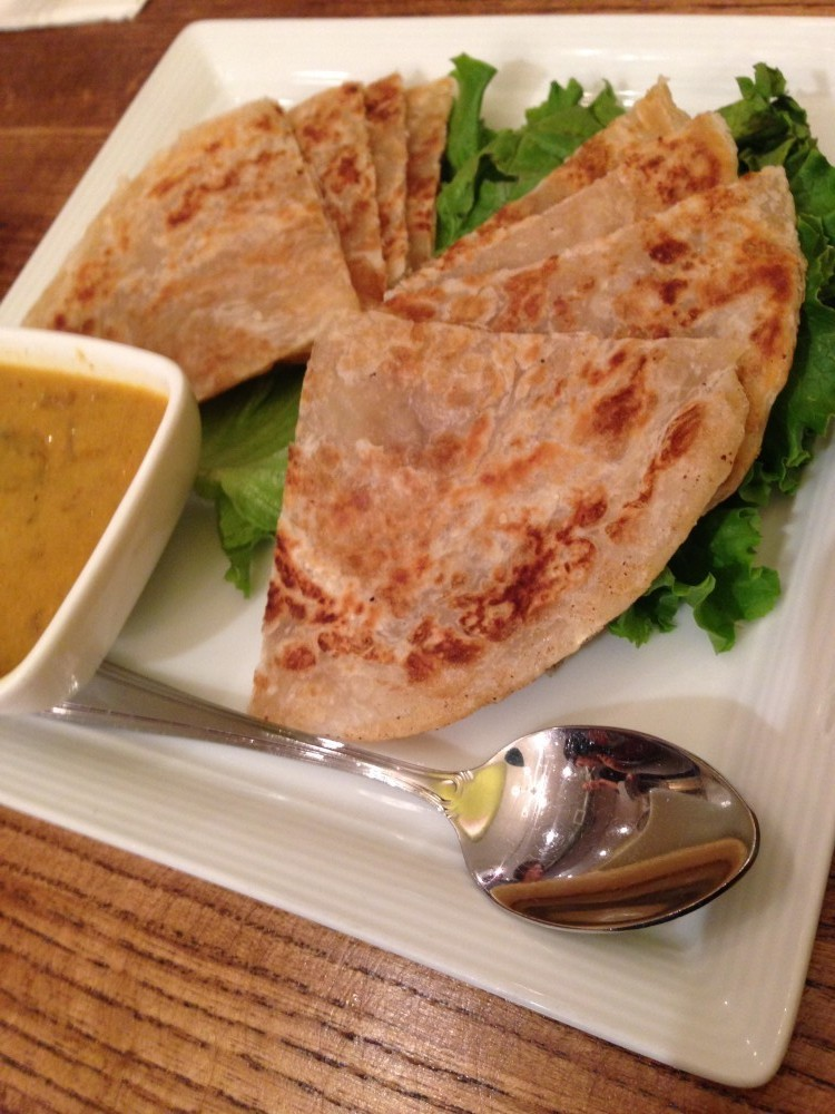 Roti Canai - flat bread from the Green Elephant in Portland ME