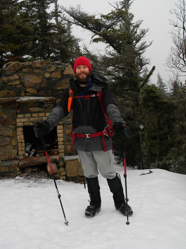 Geared up for winter hiking in the White Mountains