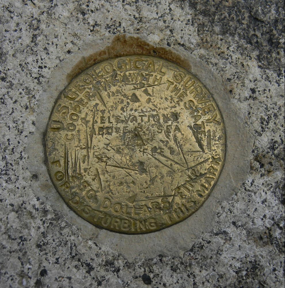 USGS Marker on the summit of Ascutney