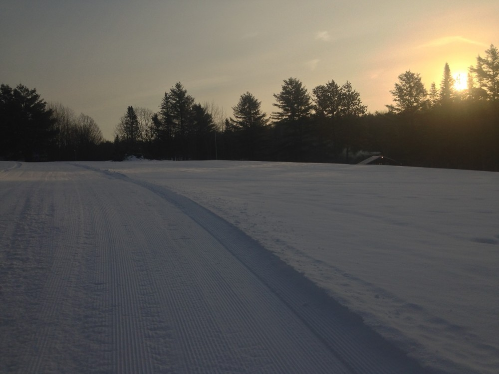 Sunrise in VT for the snowshoe series 10K