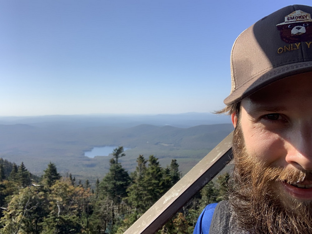 The author on Smarts Mt - fire tower