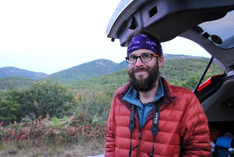 Taking a break in Acadia National Park - the location of my first ever full marathon, heck yeah I had some Muir in my vest!