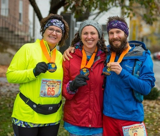 The crew, taken moments after I completed my first 33.5 mile ultra, fueled with the finest Muir Energy!