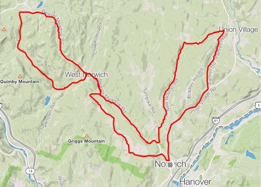 Norwich Topo Map