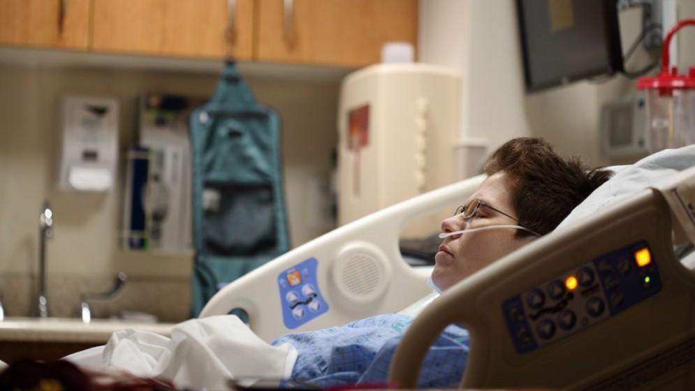 A sick patient