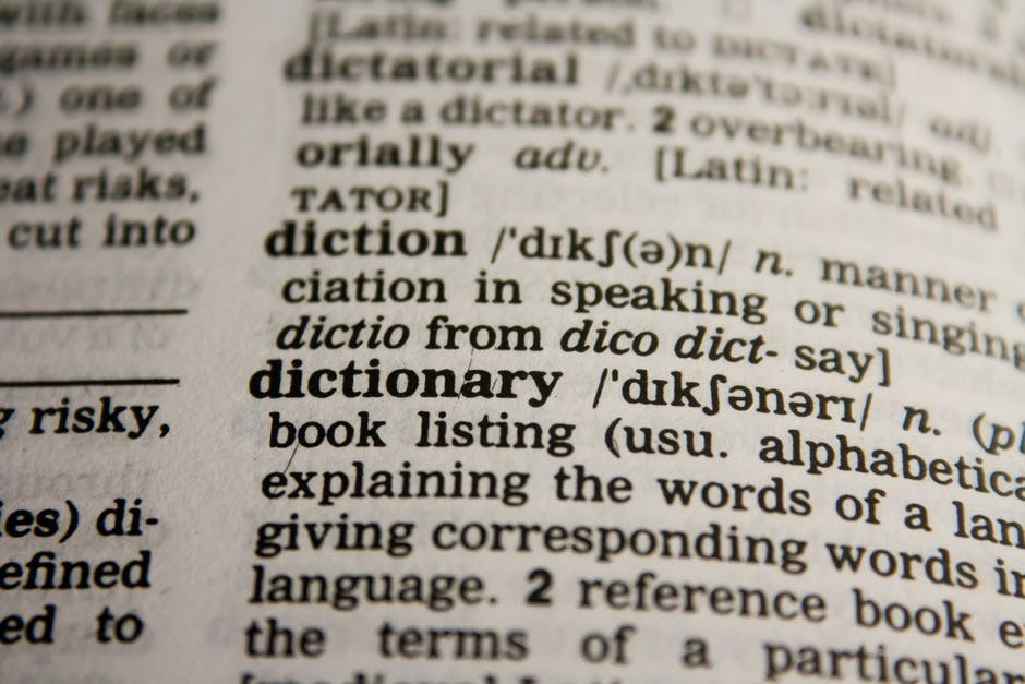 Close Up of Dictionary Definition in a Dictionary