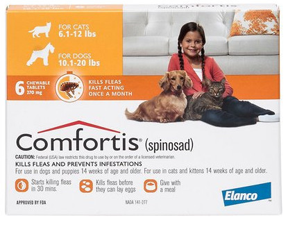 Comfortis Flea Treatment for Cats and Dogs