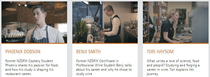 NZ School of Food and Wine- Alumni