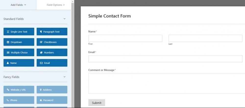 WP Forms Plugin