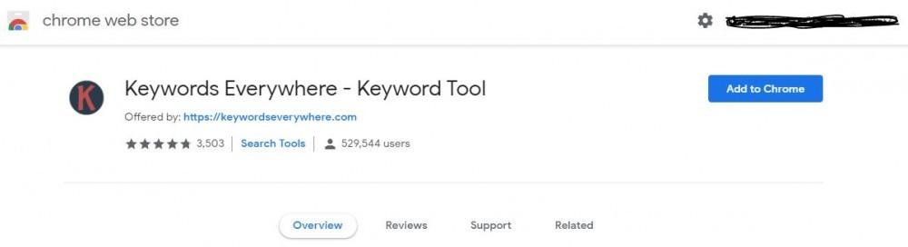 Keywords Everywhere Chrome Ext