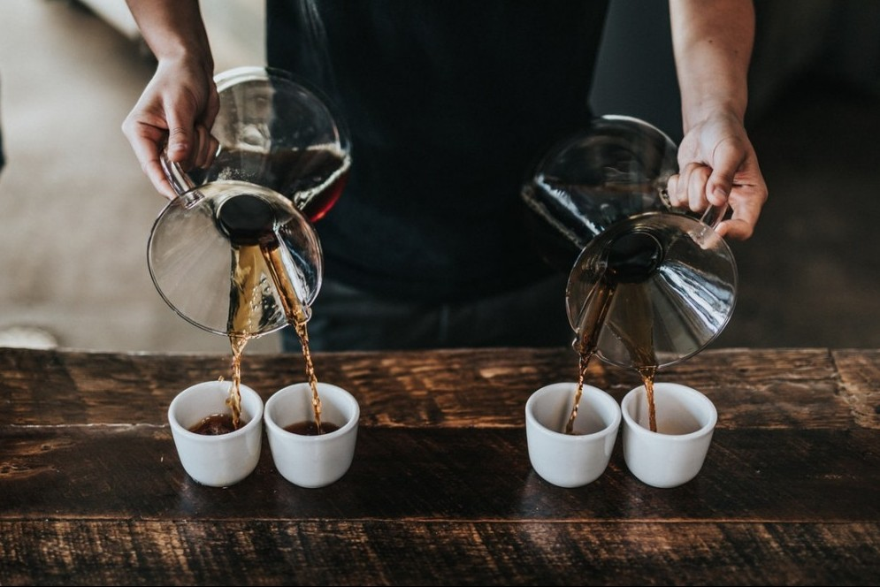 coffee pours