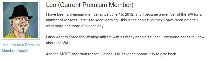 Wealthy Affiliate Testimony.
