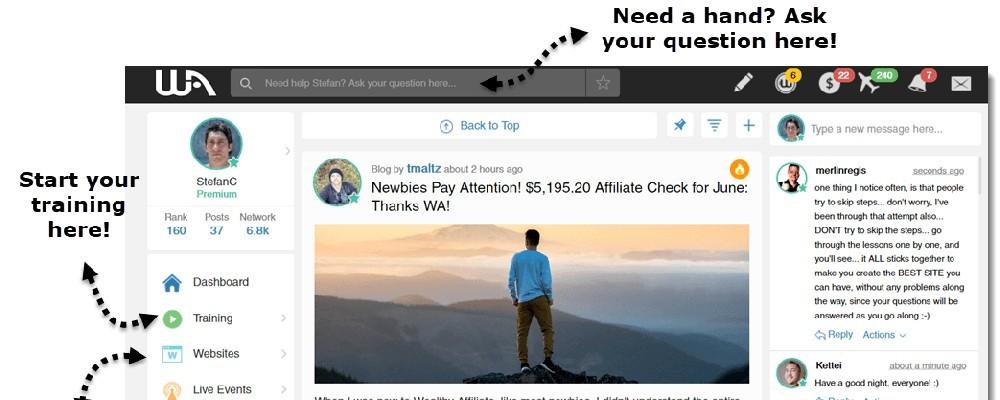 Wealthy Affiliate Help