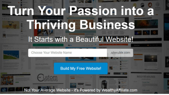 Wealthy Affiliate Free Website