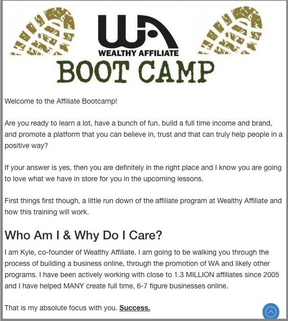 Wealthyu Affiliate Bootcamp