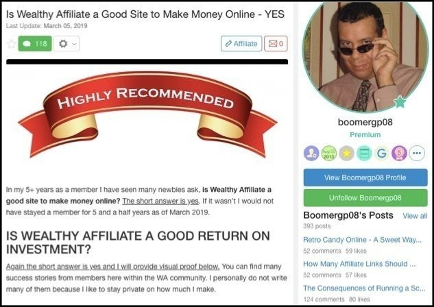 Wealthy Affiliate Boomer