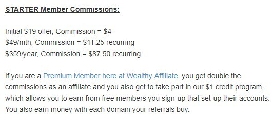 Wealty Affiliate Starter Commission