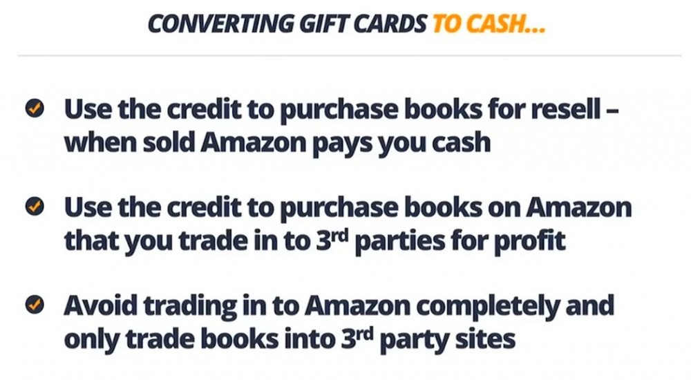 how to convert Amazon gift cards to cash