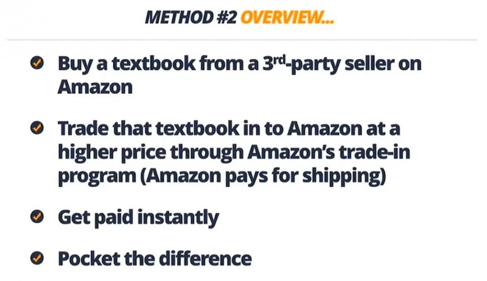 second method on how to sell used books on Amazon for huge profits