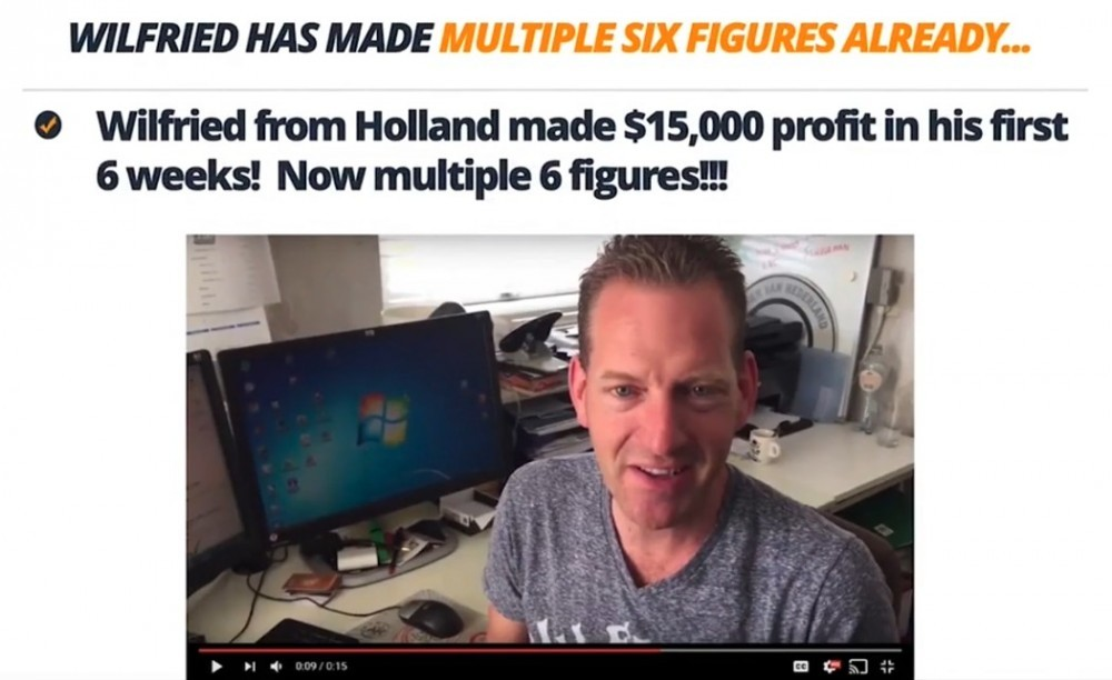 Wilfred from Holland make $15k in his first 6 weeks