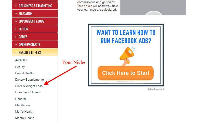 Clickbank Niche selection