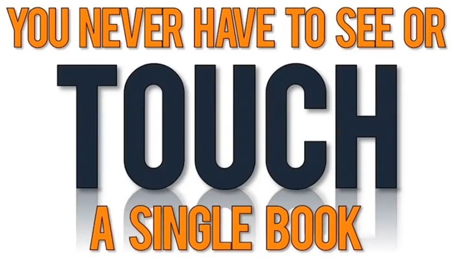 You never have to see or touch a single book