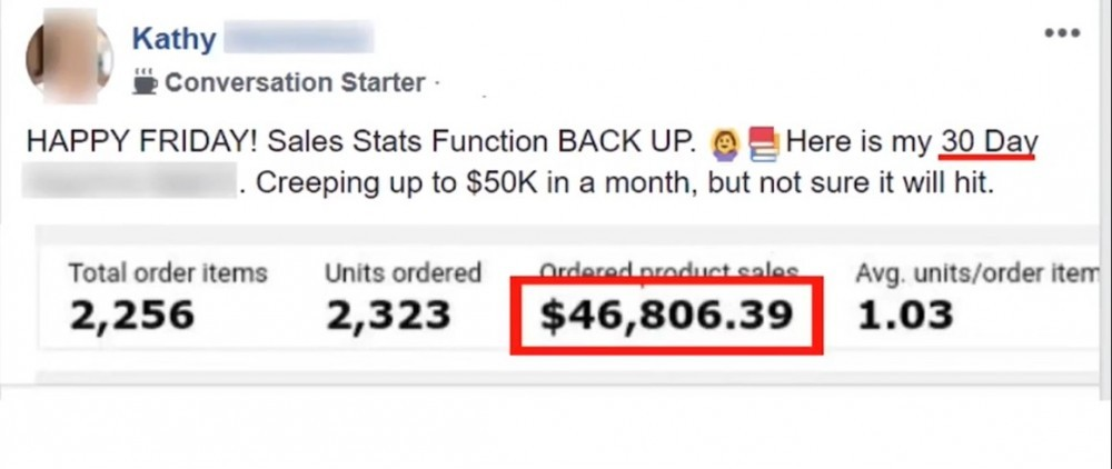 Kathy made $46k in 30 days
