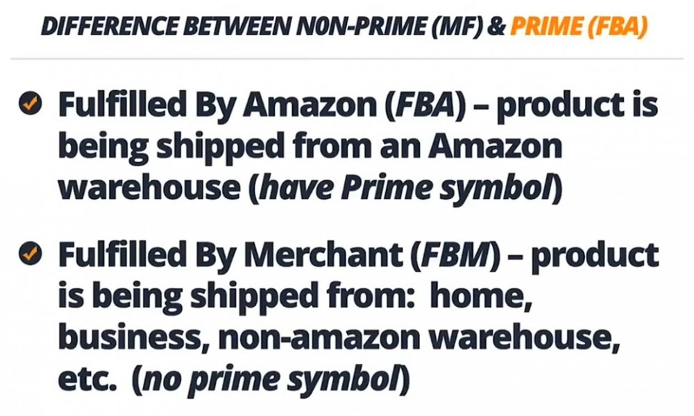 Difference between merchant fulfilled (non-prime) and prime FBA