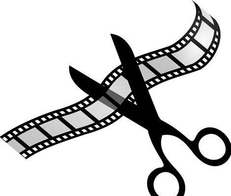 Image of movie roll with scissors cutting