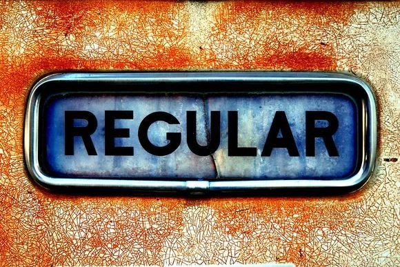 The word regular in a letterbox