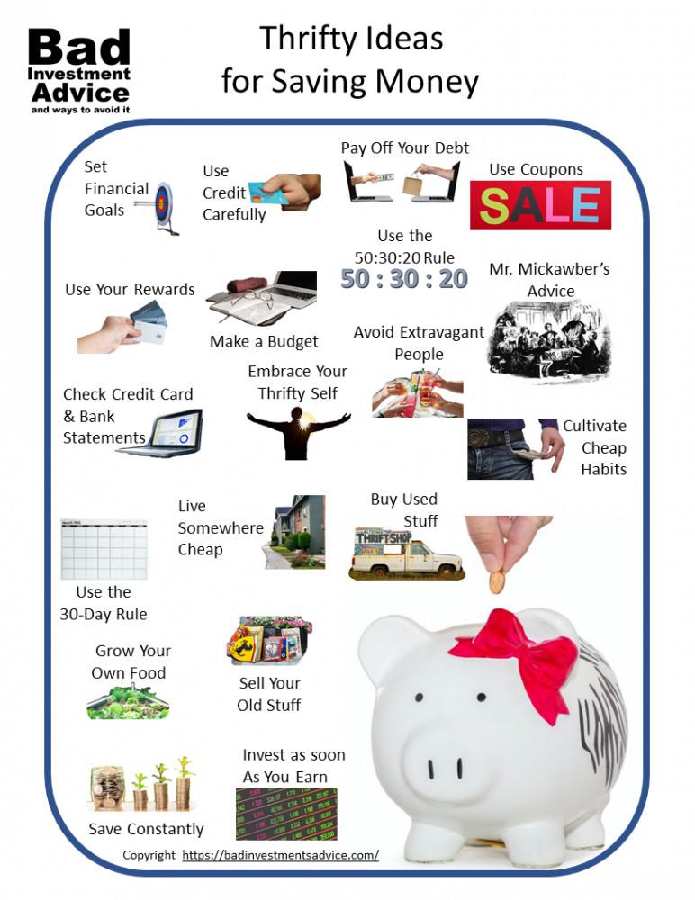 Thrifty ideas for saving money summary