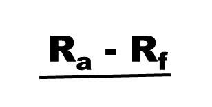 Sharpe ratio numerator