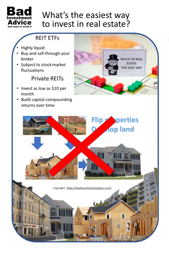 Easiest way to invest in real estate summary