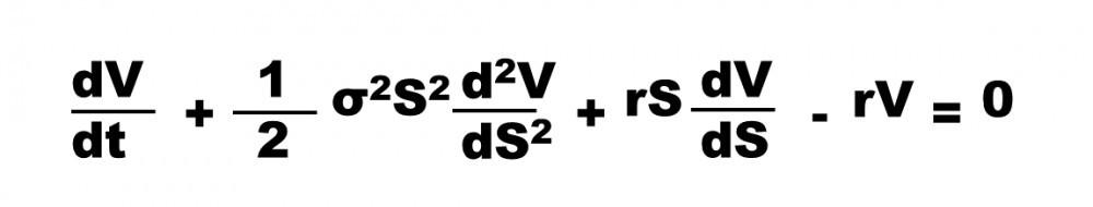 Black Scholes equation