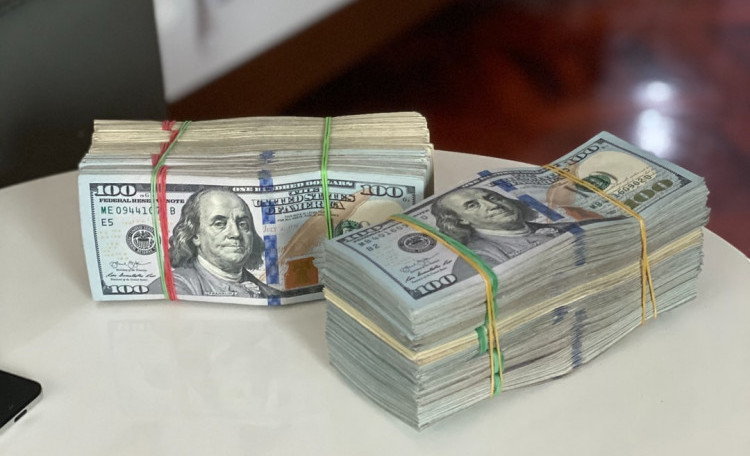 Money piles
