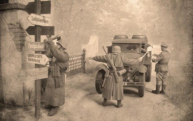 World War II roadblock