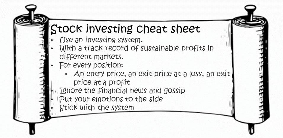 Stock investing cheat sheet